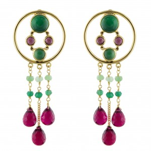 Dreams Catcher Earrings Green