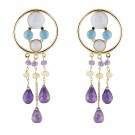 Dreams Catcher Earrings Purple