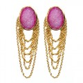 St Tropez Dangling Earrings Pink