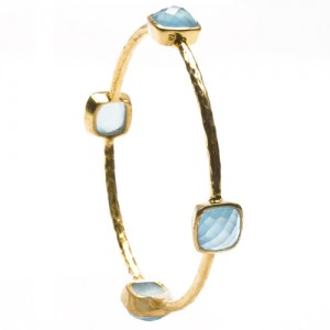 St Tropez Single Stackable Bangle Blue