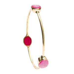 St Tropez Single Stackable Bangle Pink