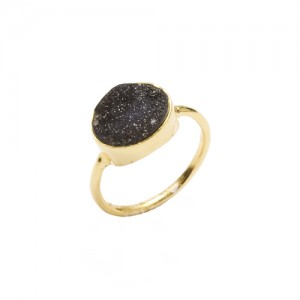 St Tropez Stackable Ring Black