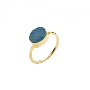 St Tropez Stackable Ring Blue