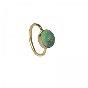 St Tropez Stackable Ring Green