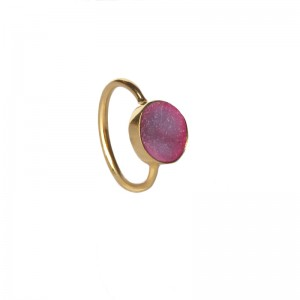 St Tropez Stackable Ring Pink