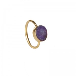 St Tropez Stackable Ring Purple